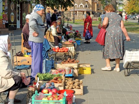 Small street grocery market