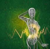 3D vykreslení lékařské ilustrace lidské nadledvinek