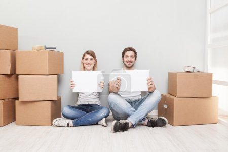 Photo for Couple Moving House - Royalty Free Image