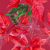 Seamless pattern  with poinsettia plant-02