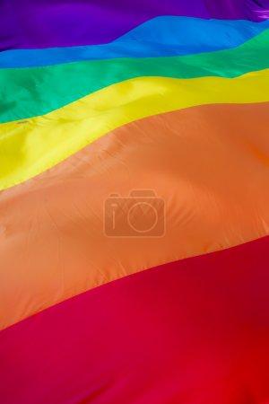 Close up of a rainbow flag