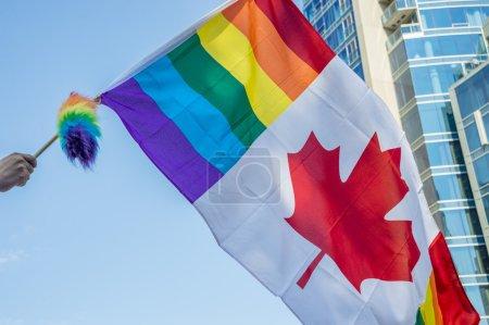 Canadian gay rainbow flag