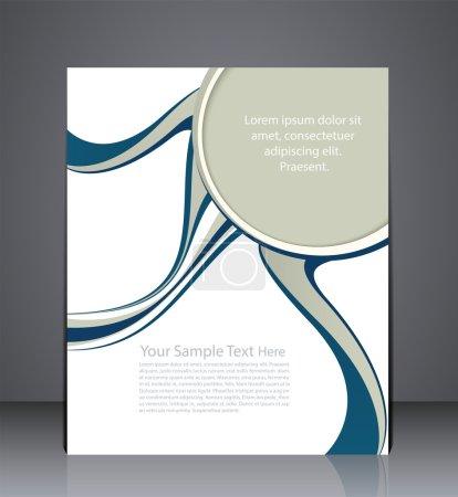 Illustration pour Brochures d'affaires de mise en page vectorielle, couverture de magazine, ou publicité de modèle de conception d'entreprise dans les couleurs bleu et gris - image libre de droit