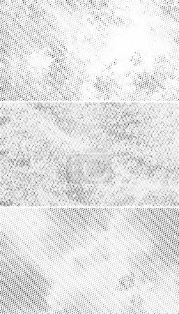 Illustration for Vintage Halftone Backgrounds, Scattered Black Dots on White Background - Royalty Free Image