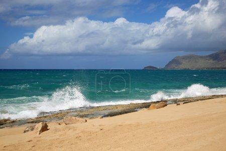 Photo pour Plage de la côte ouest d'Oahu - Hawaï - image libre de droit