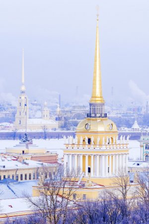 Spire of the Admiralty in St. Petersburg, Russia