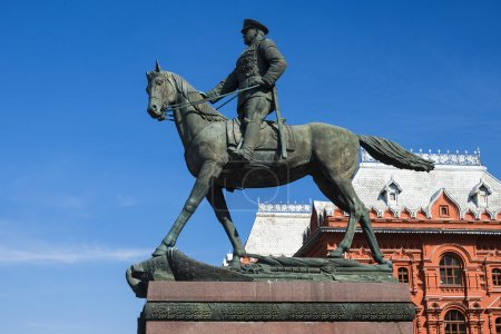 Zhukov monument in Moscow