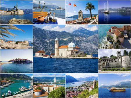 collage tourist attractions Montenegro