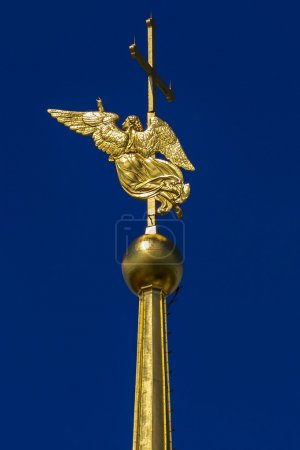 golden angel on the spire of Peter and Paul Fortress (Angel is l