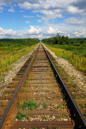 Railway disappearing into perspective