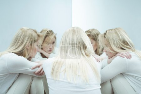 Photo for Photo of sad woman with anxiety disorder - Royalty Free Image