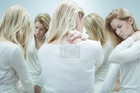 Photo for Image of sick woman with split personality - Royalty Free Image