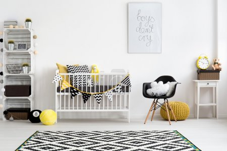 Photo for Picture of a modern baby room designed in scandi style - Royalty Free Image