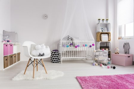 Photo for Shot of a cosy nursery room for a girl - Royalty Free Image