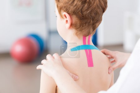 Pediatric physiotherapy and kinesiotaping