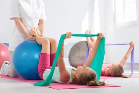Positive physiotherapy session for kids