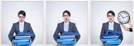 Overworked by paperwork surfeit