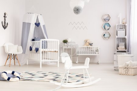 Idyllic infant room ready to welcome its first occupant