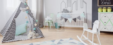 Baby room in scandinavian style idea