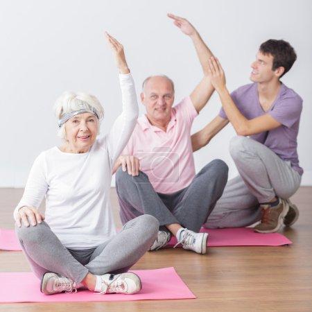 Seniors on fitness