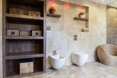 Bathroom with old-fashioned elements