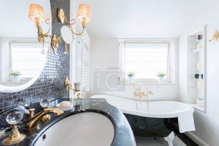 Luxury bathroom with crystal details