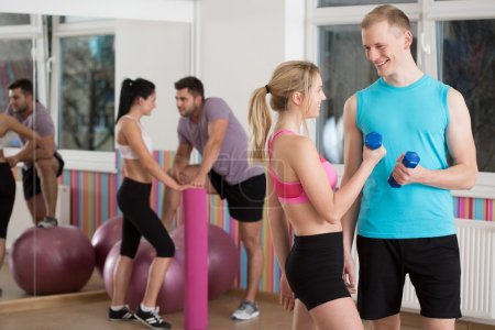 Flirting during fitness classes