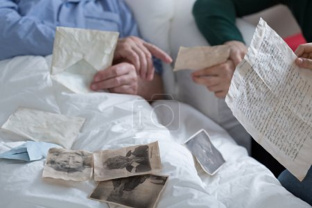 Looking at old photos