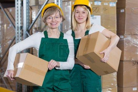 Female storage workers