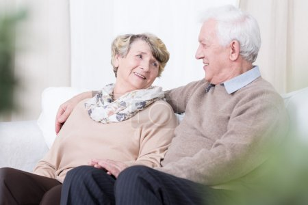 Photo for Senior people having romance in old age - Royalty Free Image