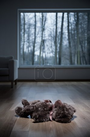 Teddy bear on the floor