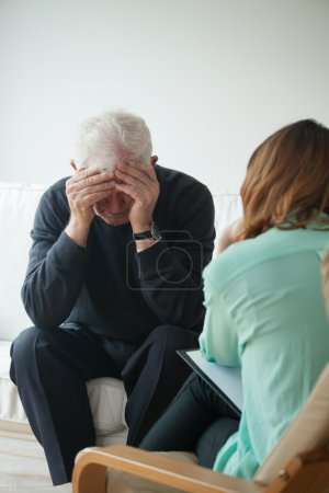 Photo for Psychological help and support for depressed pensioner - Royalty Free Image