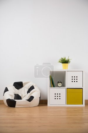 Ball shape sofa in boy's room