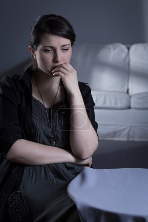 Photo for Young woman with major depression after bereavement - Royalty Free Image