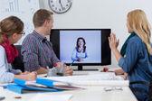 Video konference v kanceláři