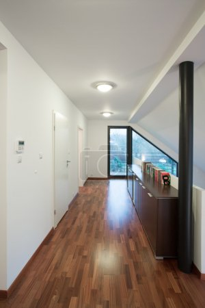 Vertical view of empty corridor at home...