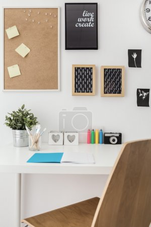 Photo for Well arranged desk in stylish office - Royalty Free Image