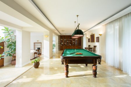Billiard table in drawing room
