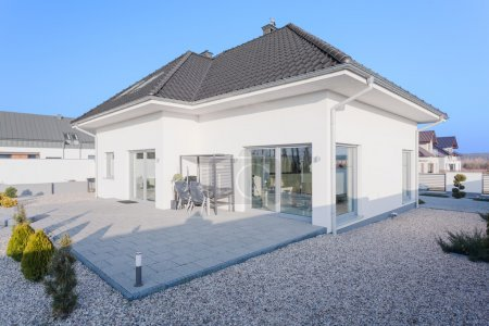Outside view of modern house