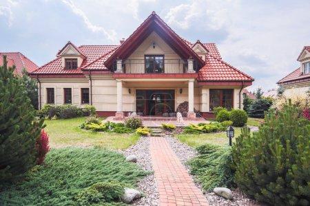 Facade of singe-family house