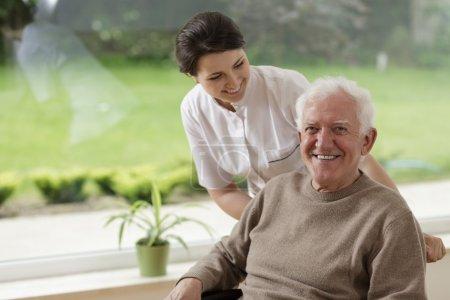 Photo for Smiling senior man staying in nursing home - Royalty Free Image