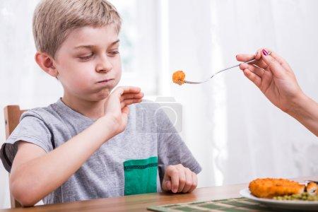 Child refusing to eat dinner