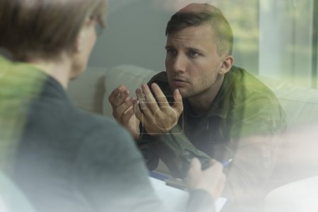 Photo for Psychological therapy of post traumatic stress disorder - Royalty Free Image