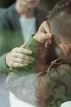 Soldier with depression