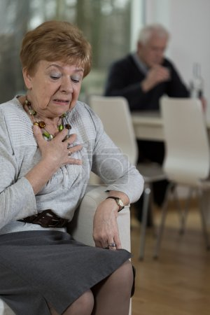 Photo for Emotional picture of elder woman who is sobbing - Royalty Free Image
