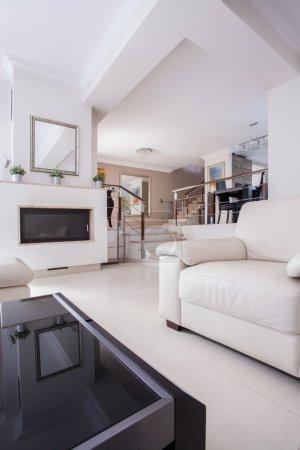 Image of a cozy living room in luxury villa...