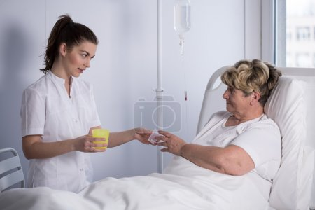 Giving drugs to patient