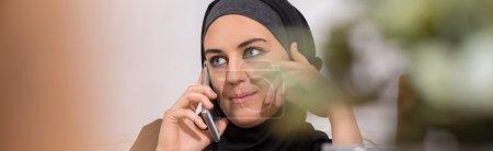 Modern arabic woman taking