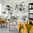 Modern space - yellow armchairs in black and white...