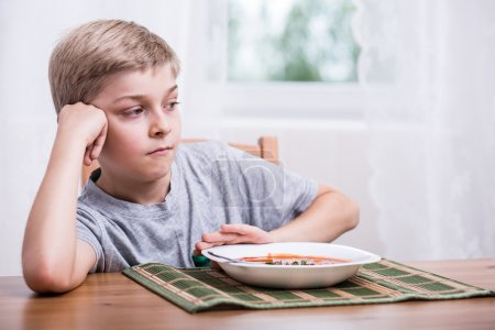 Boy having no appetite